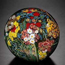 Landscape Series Gazing Ball by Shawn Messenger (Art Glass Paperweight)
