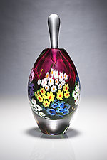 Landscape Series Perfume Ruby by Shawn Messenger (Art Glass Perfume Bottle)