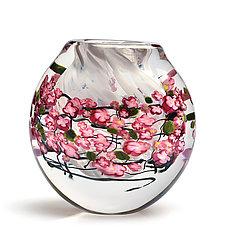 Cherry Blossom Vase by Shawn Messenger (Art Glass Vase)