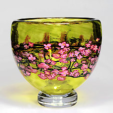Cherry Blossom Bowl by Shawn Messenger (Art Glass Bowl)
