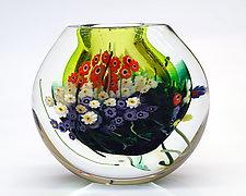 Landscape Series Vase Lime by Shawn Messenger (Art Glass Vase)