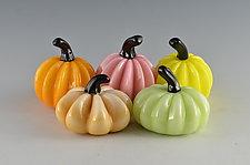 Easter Super Mini Pumpkins by Donald  Carlson (Art Glass Sculpture)