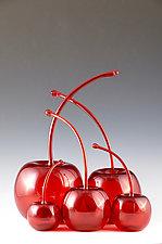 Maraschino Cherries by Donald  Carlson (Art Glass Sculpture)