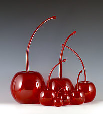 Maraschino Cherries by Donald  Carlson (Art Glass Sculpture)