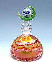 Blue Dew Drop by Chris Pantos (Art Glass Perfume Bottle)