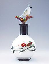 Titmouse Bottle by Chris Pantos (Art Glass Perfume Bottle)