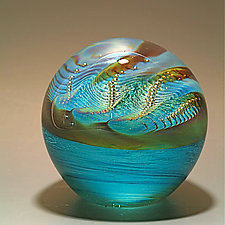Pearl Paperweight by Robert Burch (Art Glass Paperweight)