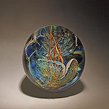 Grotto Paperweight by Robert Burch (Art Glass Paperweight)