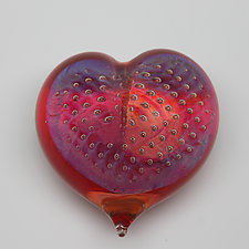Passion Heart by Robert Burch (Art Glass Paperweight)