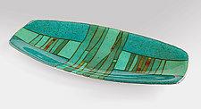 Strata Oval Platter by Lynn Latimer (Art Glass Platter)