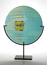 Aqua Window by Lynn Latimer (Art Glass Sculpture)