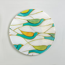 Migration by Lynn Latimer (Art Glass Wall Sculpture)