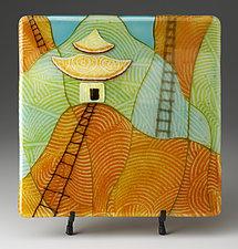 Ancient Climb by Lynn Latimer (Art Glass Sculpture)