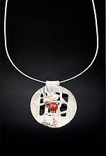 Woven Round Color necklace by Chi Cheng Lee (Silver & Stone Necklace)