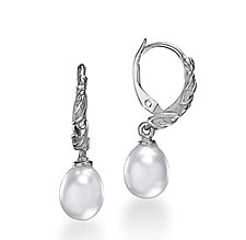 Moonlight Dreams Earrings with Pearls by Conni Mainne (Silver & Pearl Earrings)
