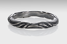Leaf Circlet Ring in Platinum-enhanced Sterling by Conni Mainne (Platinum & Silver Ring)