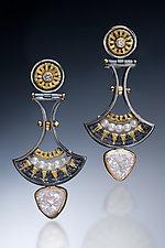 Drop Earrings by Sally Craig (Gold, Silver & Stone Earrings)