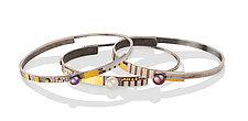 Los Altos Bangles by Lynda Bahr (Gold, Silver & Pearl Bracelet)