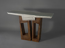 Inca Table by Jeffrey Brown (Metal Console Table)