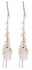 Whisper Cascade Earring by Sara Freedenfeld (Gold, Pearl & Stone Earrings)