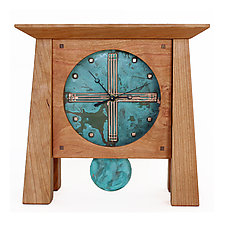 Deluxe Prairie Mantel Clock by Desmond Suarez (Wood Clock)