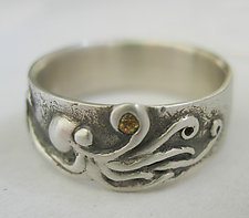 Octopus Considering a Sapphire by Brittany Foster (Silver & Stone Ring)
