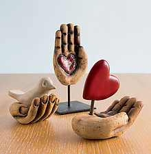 Hand Sculptures by Cathy Broski (Ceramic Sculpture)