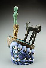 Never Look Back II by Cathy Broski (Ceramic Sculpture)