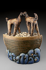 Just the Two of Us by Cathy Broski (Ceramic Sculpture)