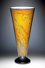 Golden Fields V-Lamp by Joel and Candace  Bless (Art Glass Table Lamp)