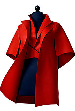 Peel in Red by Teresa Maria Widuch  (Wool Jacket)