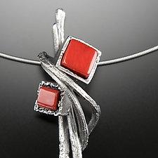 Cubeberry Pendant by Aleksandra Vali (Silver & Stone Necklace)