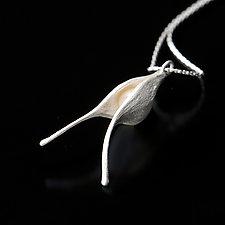 Pearl Pod Necklace by Aleksandra Vali (Silver & Pearl Necklace)
