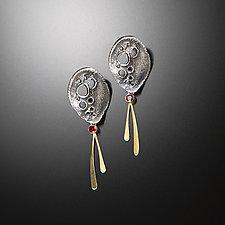 Night Story Earrings by Aleksandra Vali (Gold, Silver & Stone Earrings)