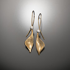 Gold Pod Earrings by Aleksandra Vali (Silver Earrings)