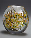Forsythia Cased Vase Flat by Shawn Messenger (Art Glass Vase)