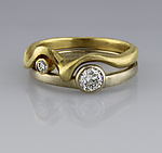Nesting Diamond Bands by Karina Mattei (Gold & Stone Ring)