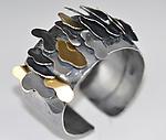 Oregon Ridge Bracelet 1 by Lori Gottlieb (Silver & Gold Bracelet)