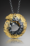 Large Spiral Necklace by Lori Gottlieb (Gold & Silver Necklace)