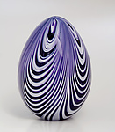 Ribbon Egg by Paul Lockwood (Art Glass Sculpture)