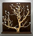 Birds in Trees - Large by Chris  Stiles (Ceramic & Wood Wall Sculpture)