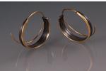 Earrings by Victoria Moore (Gold & Steel Earrings)