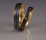 2 Rings by Victoria Moore (Gold & Steel Ring)