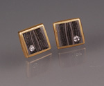 Little Squares by Victoria Moore (Gold, Diamond, & Steel Earrings)