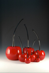 Red Cherries by Donald  Carlson (Art Glass Sculpture)