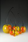 Rainier Cherries by Donald  Carlson (Art Glass Sculpture)
