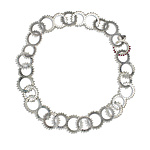 Full Edged Short Sprocket Necklace by Gillian Batcher (Silver & Pearl Necklace)