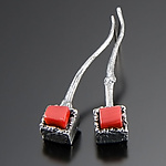 Cubeberry Earrings by Aleksandra Vali (Silver & Stone Necklace)