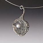 Precious Pearl by Aleksandra Vali (Silver & Pearl Necklace)