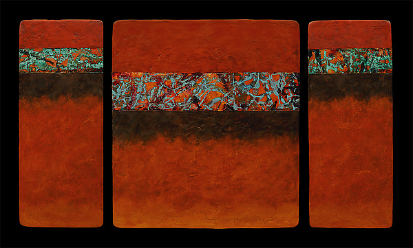 Canyon Walls: Rose M+ Triptych